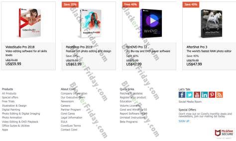 Corel Black Friday 2019 Sale & Deals - BlackerFriday com