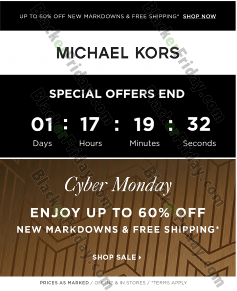 f016e2691b72 ... new markdowns at michaelkors.com. Sale ends on Monday night