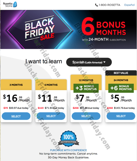 Rosetta Stone Black Friday 2019 Sale & Deals - BlackerFriday com
