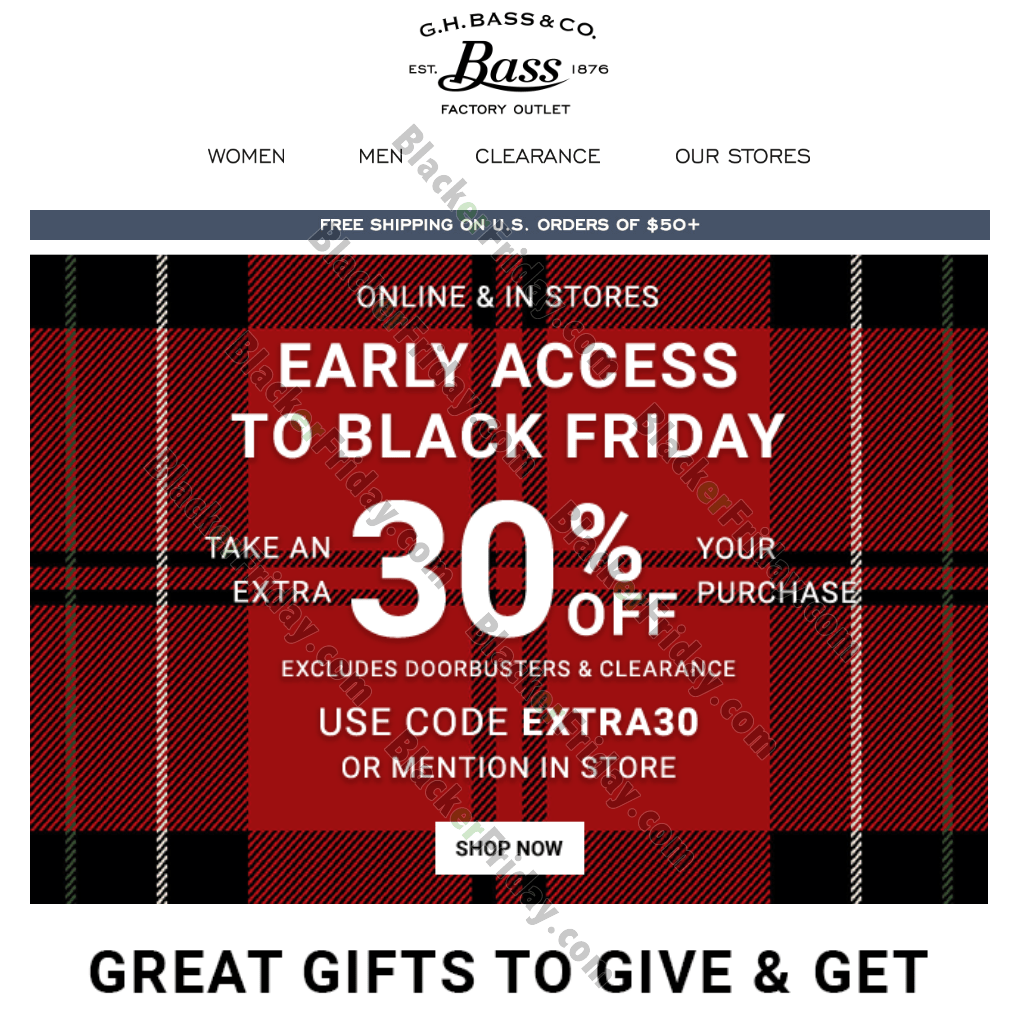 G.H. Bass Black Friday 2020 Sale - What