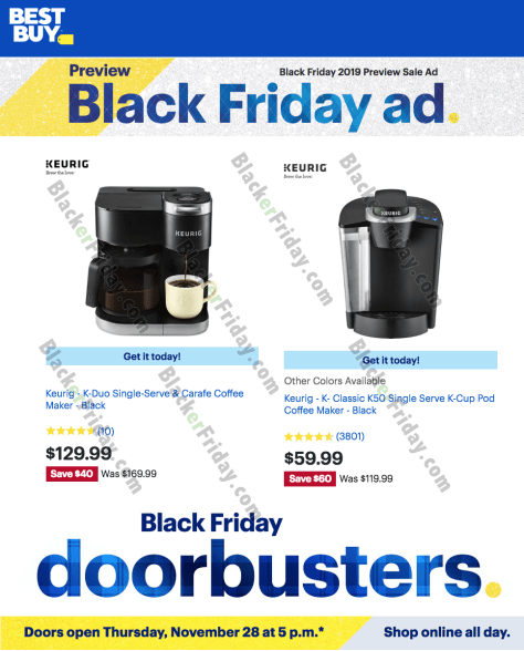 Keurig Black Friday 2019 Sale & K-Cup Coffee Brewer Deals ...