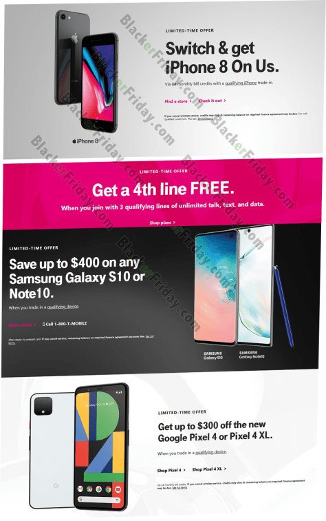 T Mobile Black Friday 2020 Sale What To Expect Blacker Friday