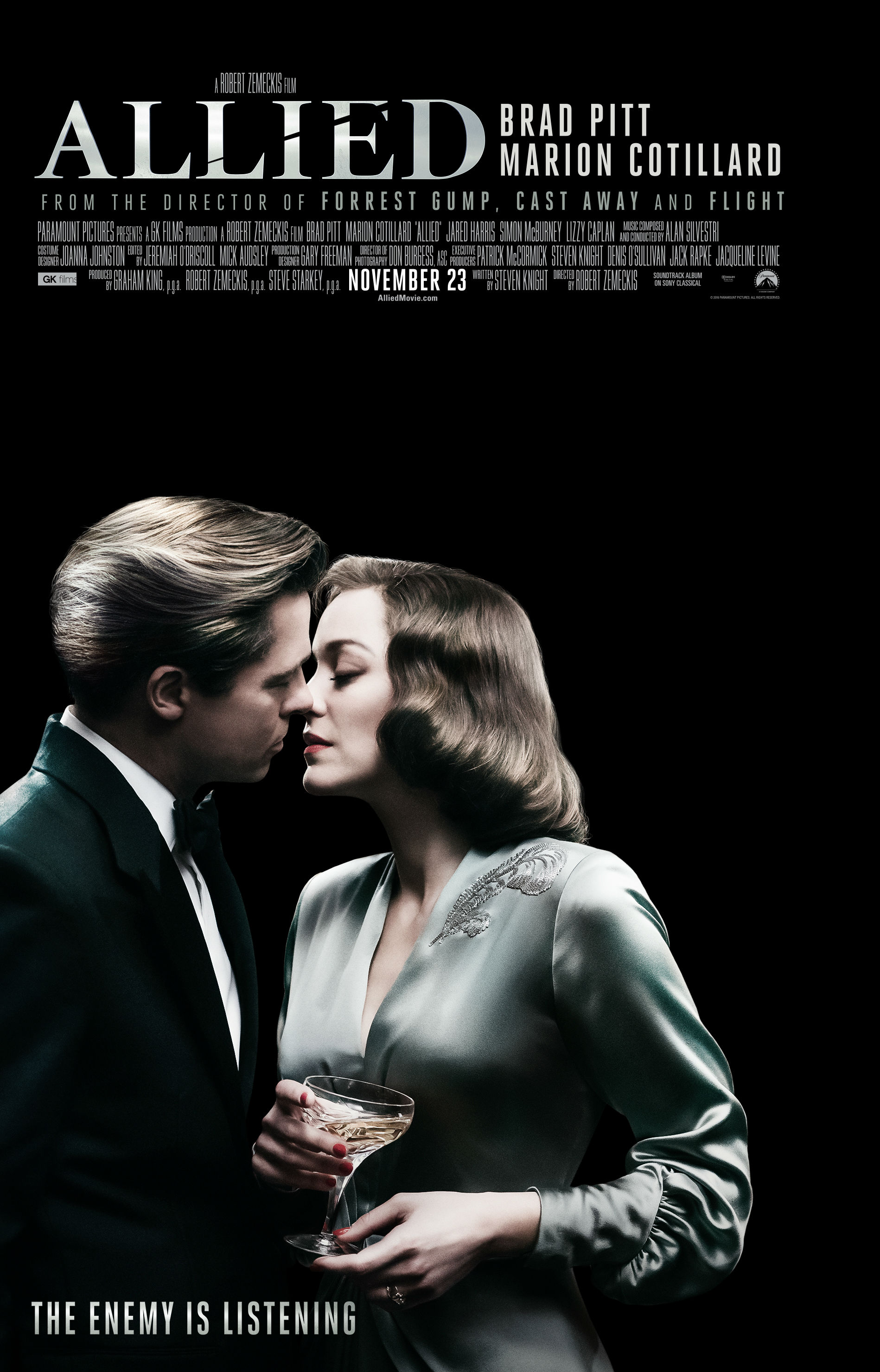 Image result for allied movie poster