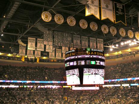 Boston Celtics Championship banners