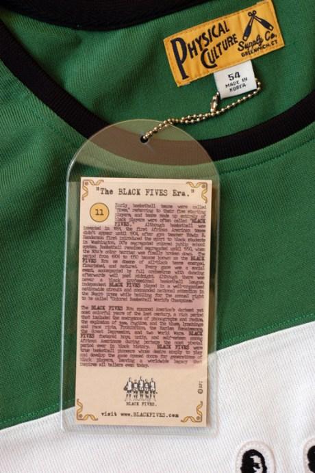 Black Fives branded jersey in green