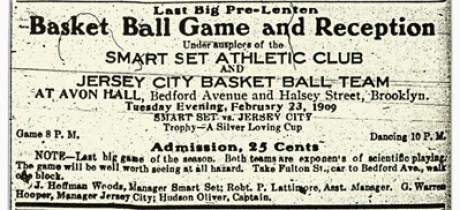 Basketball game ad