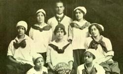 The all-black New York Girls championship basketball team