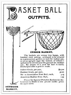 An old bottomless basketball basket