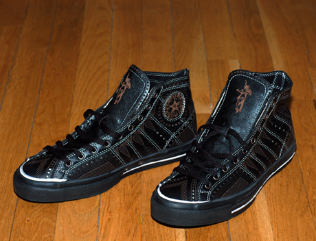 Black Fives Original Laser-Detailed Converse All Stars