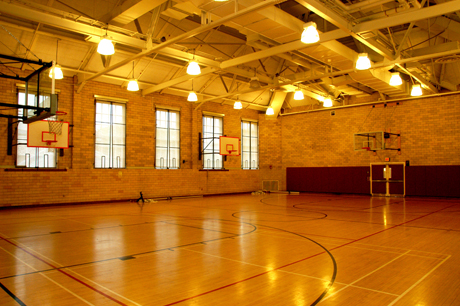 The renovated court at Hemenway where Henderson learned basket-ball.