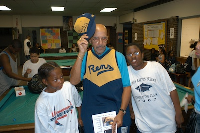 John Isaacs at Madison Square Boys and Girls Club