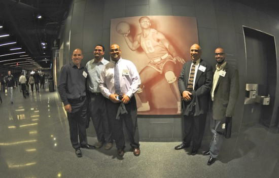 King Family in Barclays Center Concourse