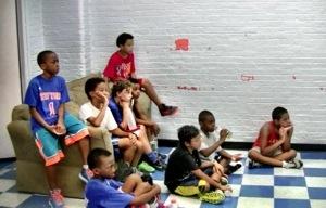 Kids at Riverside Hawks camp