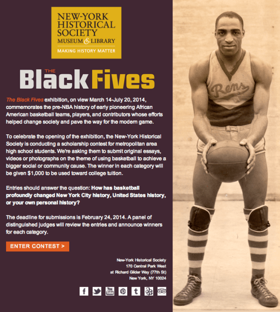 Basketball History Scholarship Contest Entry Form