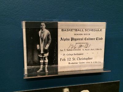 Alpha Physical Culture Club Basketball Schedule, 1915-16 Season 1915 Postcard