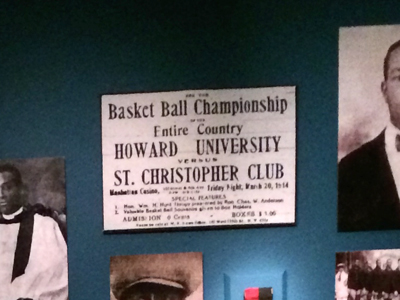 St. Christopher vs. Howard University ad