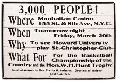 St. Christopher vs Howard University ad