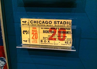Ticket stub, 1944 World Championship of Professional Basketball, Monday, March 20, 1944 | 1944 | Ticket fragment