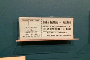 Globe Trotters ticket, 1939-40