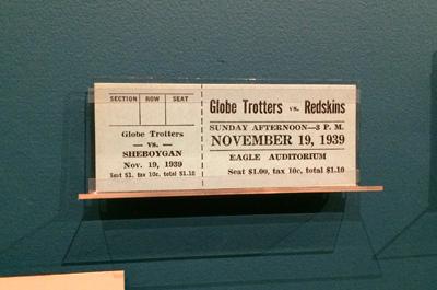 Harlem Globetrotters vs. Sheboygan Redskins, November 19, 1939 1939 | Ticket