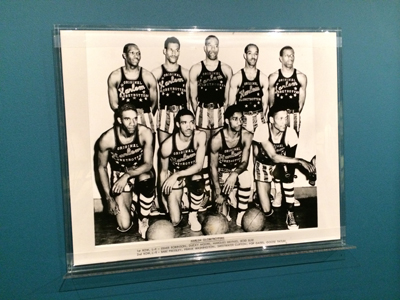 Harlem Globetrotters basketball team, ca. 1949 Photograph