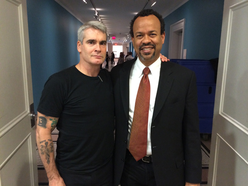 Henry Rollins with Claude Johnson