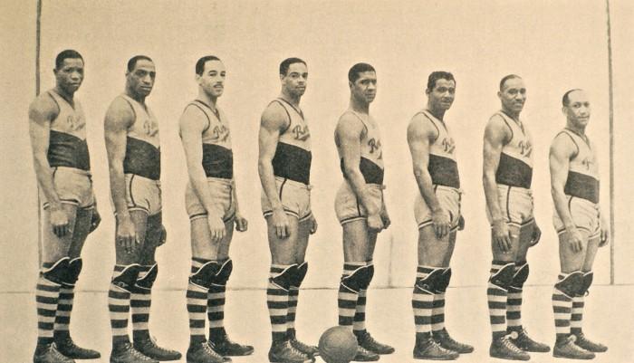 """New York Renaissance (""""Rens"""") basketball team, 1939."""
