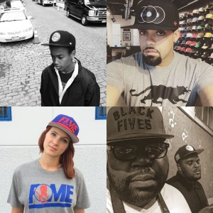 Peeps wearing Black Fives Collection gear.