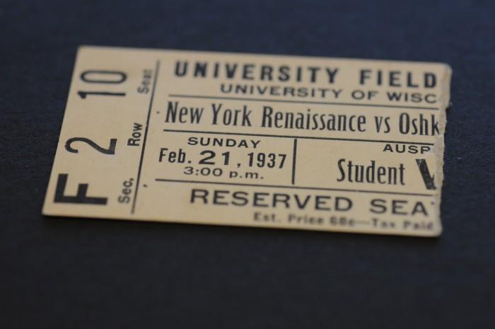 1937 Rens Ticket Stub