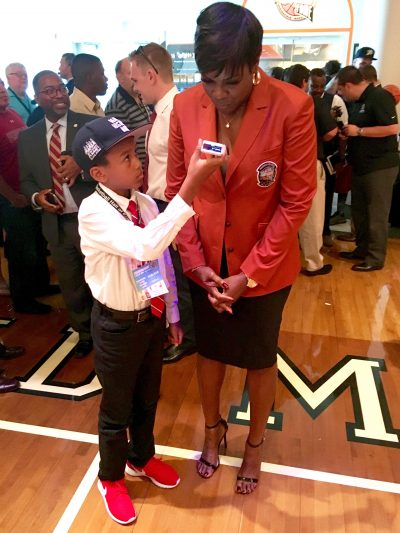 Carnegie Johnson with Sheryl Swoopes