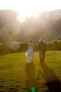 garden oft he gods club sunset wedding