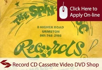 Record CD Cassette Video DVD Shop Insurance