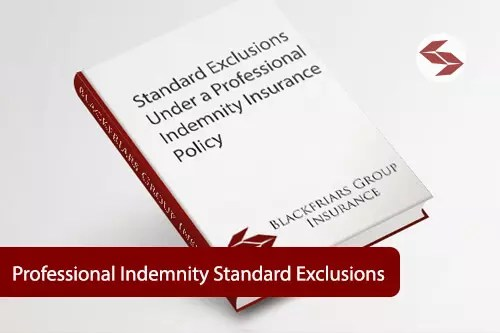 professional indemnity standard exclusions