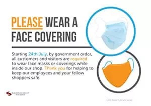 Please Wear a Face Covering - Poster for Shops
