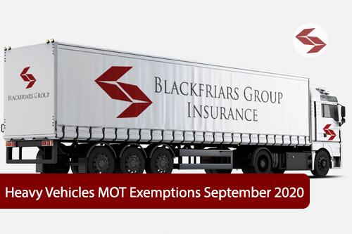 heavy vehicles MOT exemptions