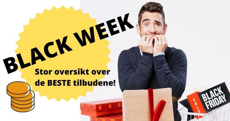Black week 2019 – Stor oversikt over butikker som har gode tilbud hele uka