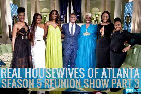 Cast of RHOA during the reunion with Bravo Andy