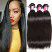 B F Hair 6a Brazilian Virgin Straight Weave 4bundles 100 Unprocessed Human Extensions Natural