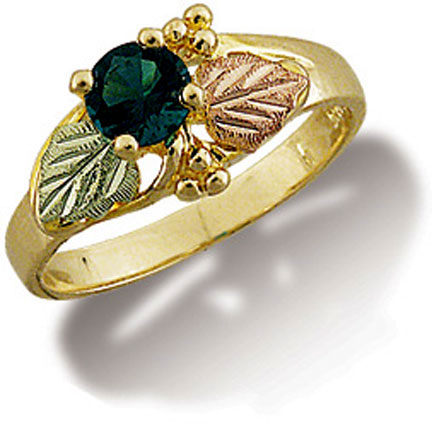 Landstroms Black Hills Gold Ladies Ring Helenite G LC290