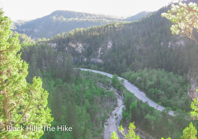 The view from Community Caves in Spearfish Canyon