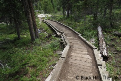 Walkway on Misty Moon Trail #063 (Backpacking In the Bighorns – Hiking Bomber Mountain)