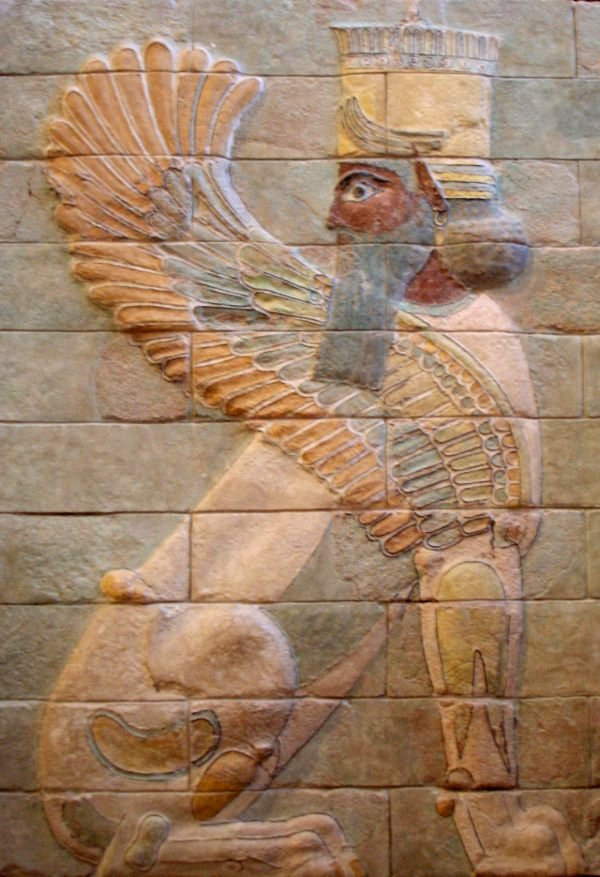 Winged sphinx from the palace of Darius the Great at Susa.