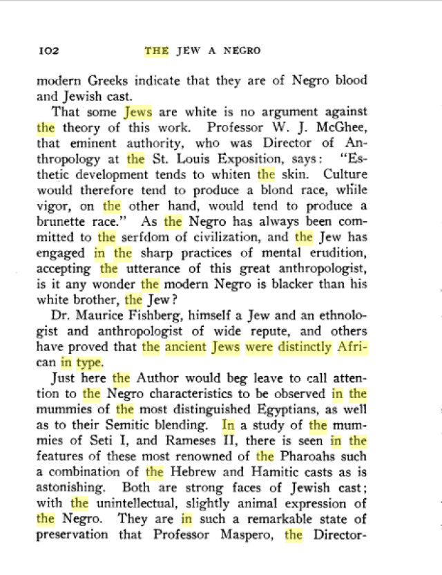 The Jew: A Negro - page 102