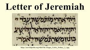 Letter of Jeremiah 1 (KJV)