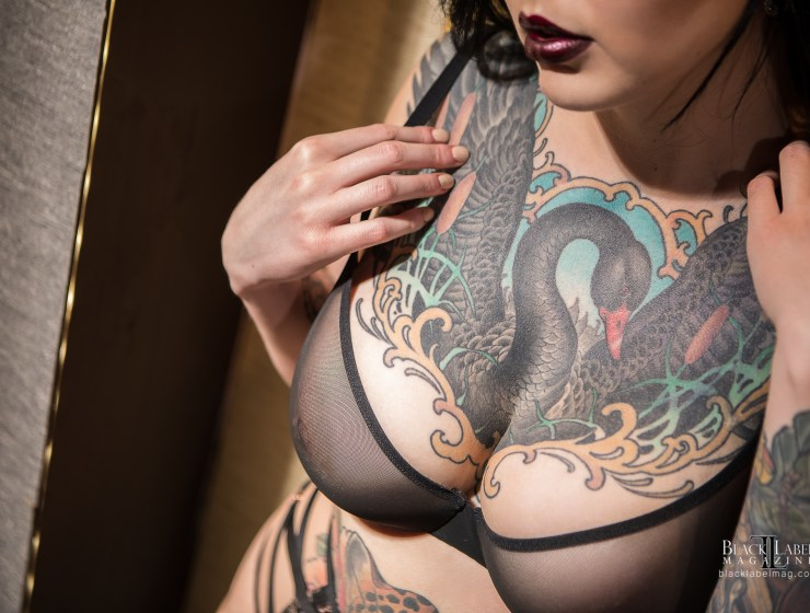 Black Label Magazine, Shelby Mason, nude art, tattoos, nude tattoo models