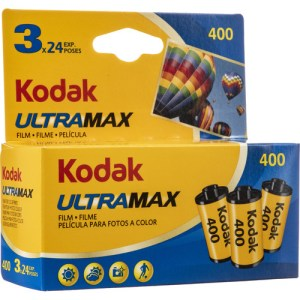 Kodak GC/UltraMax 400 Color Negative Film (35mm Roll Film, 24 Exposures, 3-Pack)