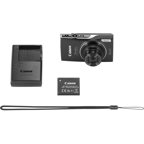 Canon PowerShot ELPH 360 HS Digital Camera (Black)