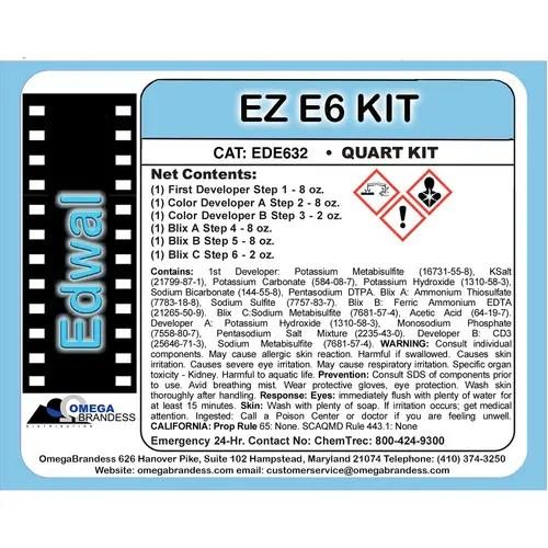 Edwal EZ E-6 Developing Kit (1 gal)