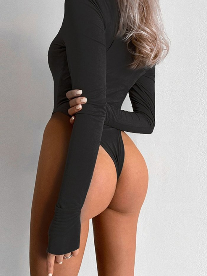 Full Sleeve High Cut Bodysuit