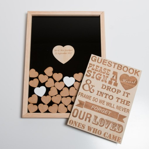 Heart Guest Book with Sign